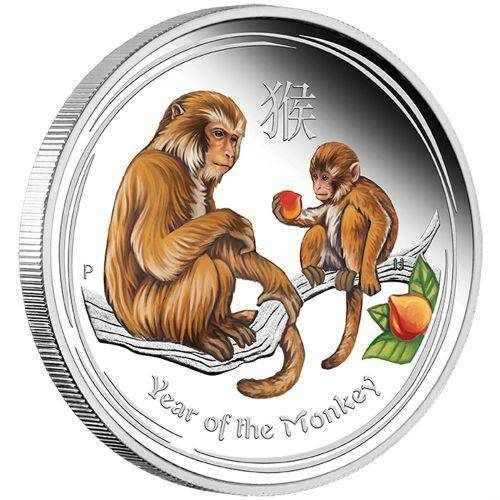 2016 Year of the Monkey - 1/2 oz Coloured - Silver Coin – The Perth Mint 999 & 9999