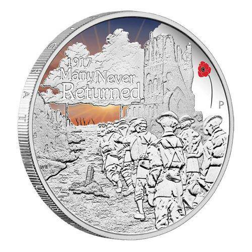 The ANZAC Spirit - Many Never Returned 2017 1oz Silver Proof Coin