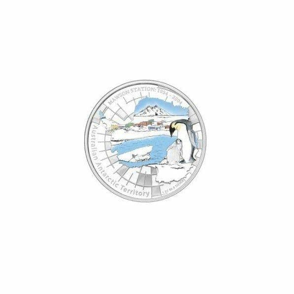 1954 - 2004 Australian Antarctic Territory - Mawson Station - 1oz .999 Silver Proof Coin - Perth Mint 1