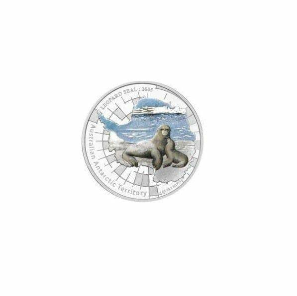 2005 Australian Antarctic Territory - Leopard Seal - 1oz .999 Silver Proof Coin - Perth Mint 1