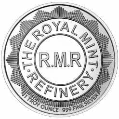 The Royal Mint Refinery Shield 1oz .999 Silver Bullion Coin - RMR