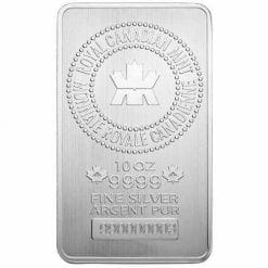 Royal Canadian Mint 10oz .9999 Silver Minted Bullion Bar