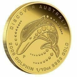 2009 Discover Australia - Dolphin 1/10oz .9999 Gold Proof Coin in Capsule - Perth Mint