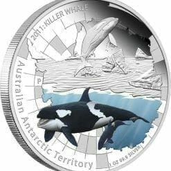 2011 Australian Antarctic Territory - Killer Whale - 1oz .999 Silver Proof Coin - Perth Mint