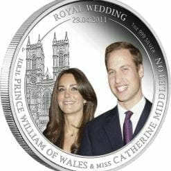 2011 Royal Wedding - William & Kate - 1oz .999 Silver Proof Coin - Perth Mint