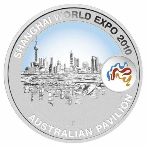 2010 Shanghai World Expo - Cityscape 1oz .999 Silver Proof Coin - Perth Mint