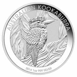 2014 Australian Kookaburra 1oz .999 Silver Bullion Coin in Capsule - Perth Mint BU