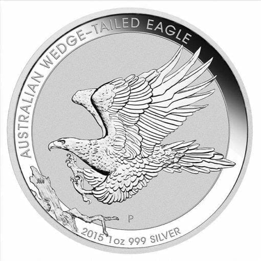 2015 Australian Wedge-Tailed Eagle 1oz .999 Silver Bullion Coin in Capsule - Perth Mint BU