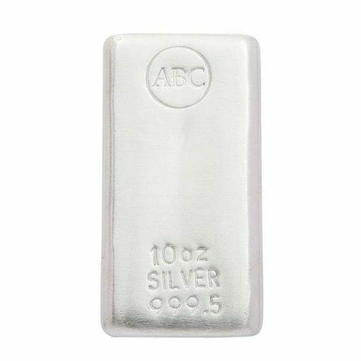 ABC 10oz .9995 Silver Cast Bullion Bar