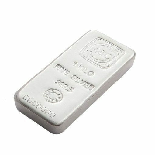 ABC 1kg .9995 Silver Cast Bullion Bar