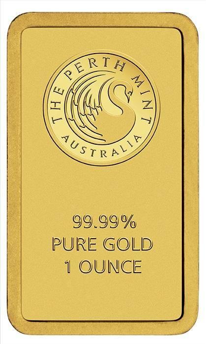 Perth Mint Kangaroo 1oz .9999 Minted Gold Bar