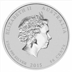 2015 Year of the Goat 1/2oz .999 Silver Bullion Coin in Capsule - Perth Mint BU