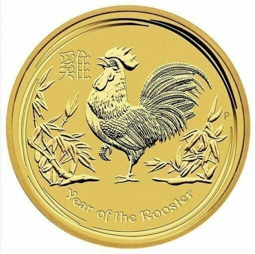 2017 Year of the Rooster 1/20oz .9999 Gold Bullion Coin - Perth Mint