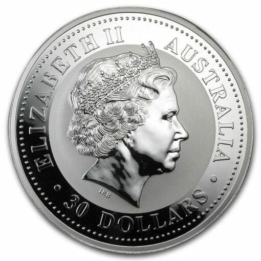 2000 Year of the Dragon with Diamond Eyes 1kg Kilo .999 Silver Coin - Lunar Series I - Perth Mint
