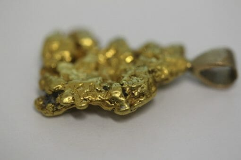 Natural Australian Gold Nugget Pendant - 6.98g