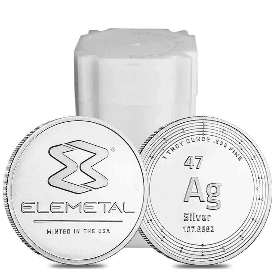 Elemetal 1oz .999 Silver Bullion Coin - Elemetal Mint