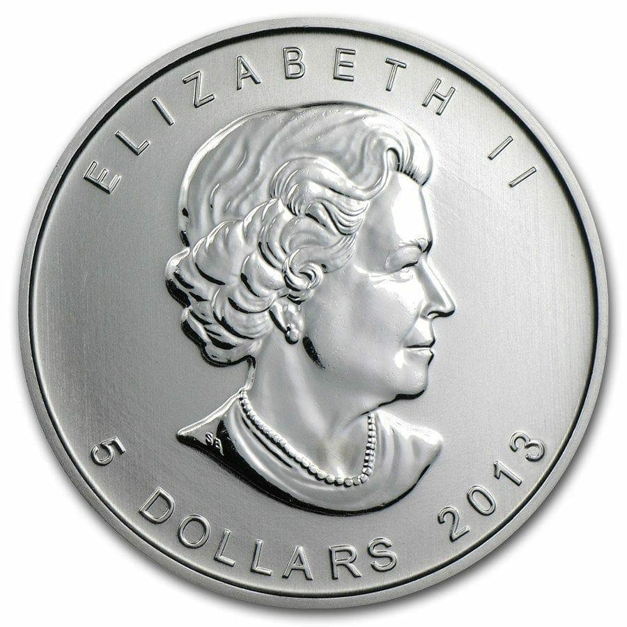 2013 Maple Leaf 1oz .9999 Silver Bullion Coin - Royal Canadian Mint 3