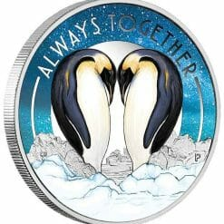 2018 Always Together Penguins 1/2oz .9999 Silver Proof Coin - Perth Mint