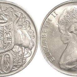 Australian 1966 50c Round Silver Coin - 80% Silver 3