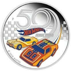 2018 50 Years of Hot Wheels 1oz .9999 Silver Proof Coin - The Perth Mint 7