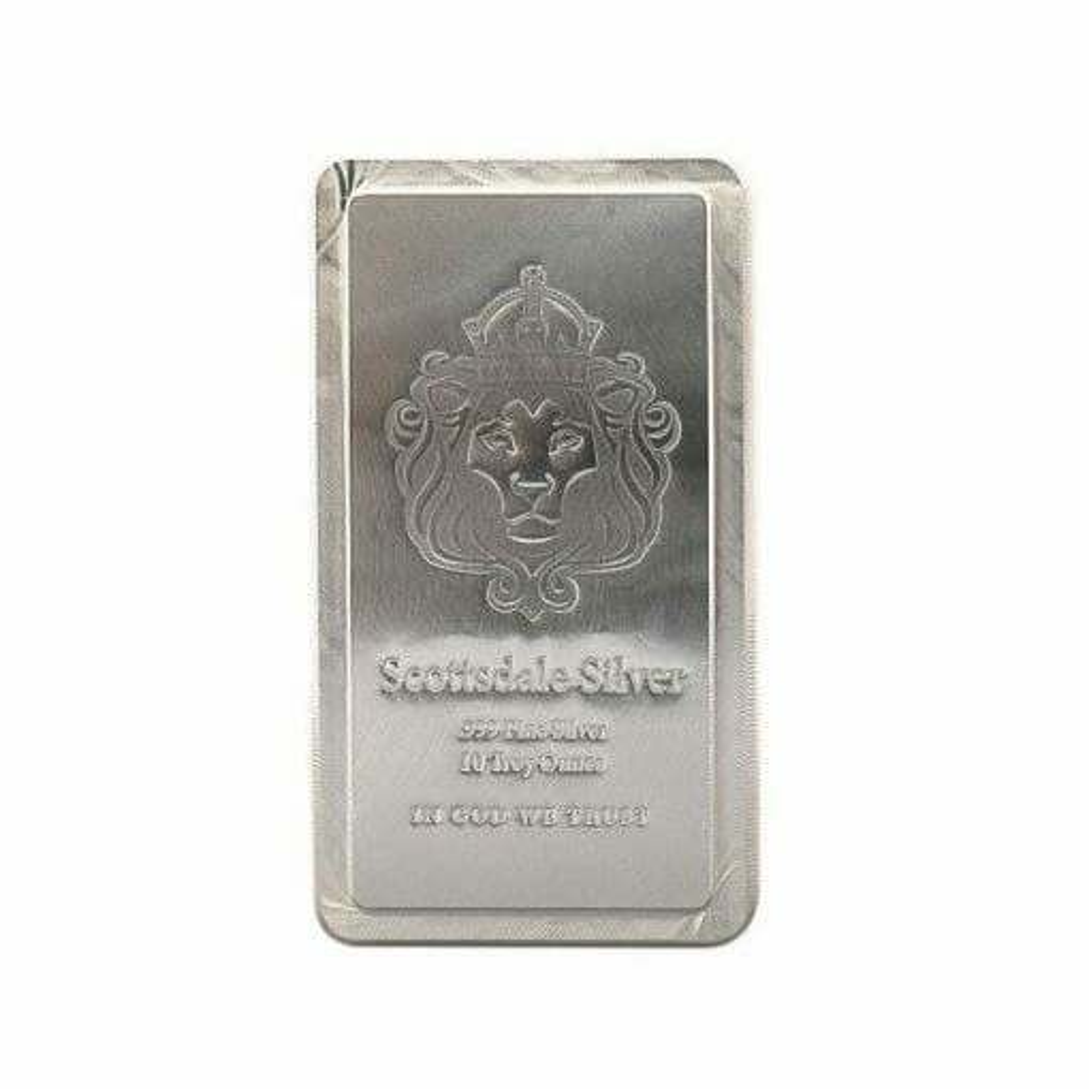 Scottsdale Silver 10oz .999 Silver Bullion Stacker Bar 1
