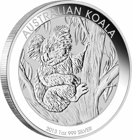 2013 Australian Koala 1oz .999 Silver Bullion Coin - The Perth Mint 2