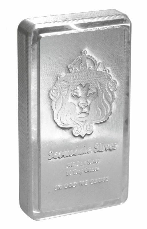 Scottsdale Silver 10oz .999 Silver Bullion Stacker Bar 2