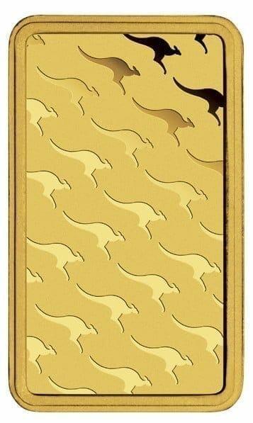 Perth Mint Kangaroo 1g .9999 Gold Minted Bullion Bar - Green Security Card 4