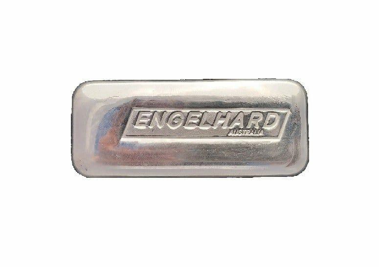 Engelhard 10oz .999 Silver Cast Bullion Bar - Engelhard Australia 1