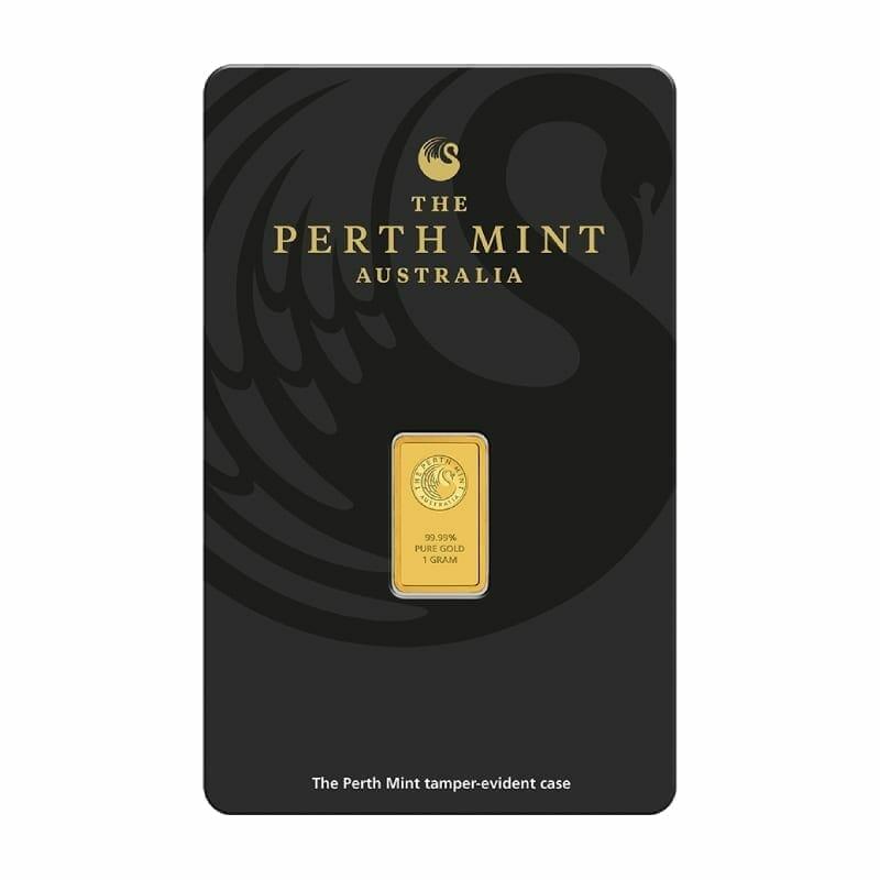 Perth Mint Kangaroo 1g .9999 Gold Minted Bullion Bar 1