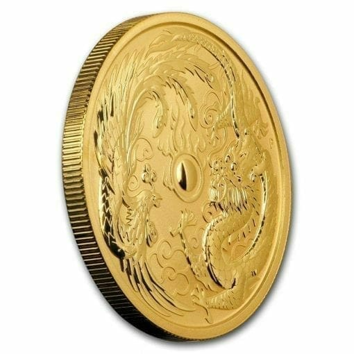 2018 Dragon and Phoenix 1oz .9999 Gold Bullion Coin - The Perth Mint 2