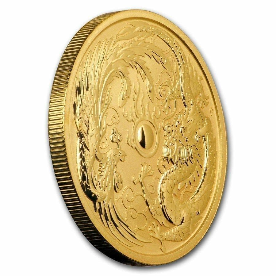 2018 Dragon and Phoenix 1oz .9999 Gold Bullion Coin - The Perth Mint 4
