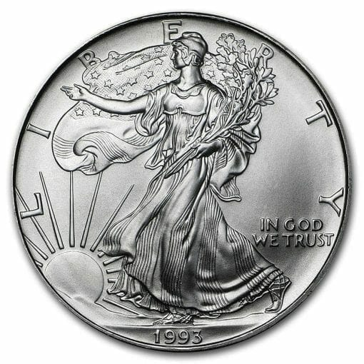 1993 American Eagle 1oz .999 Silver Bullion Coin ASE 1