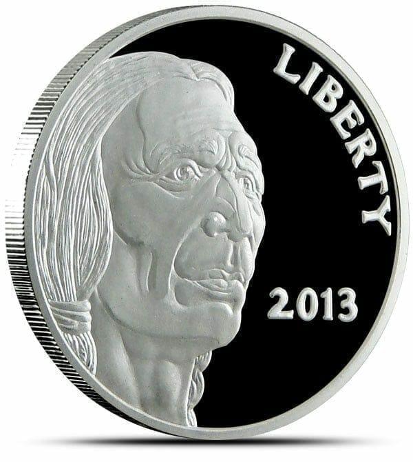 2013 Buffalo / Indian Head 1oz .999 Silver Bullion Coin 1