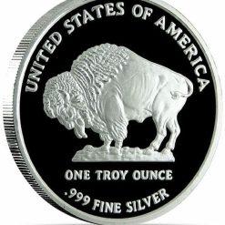 2013 Buffalo / Indian Head 1oz .999 Silver Bullion Coin 3