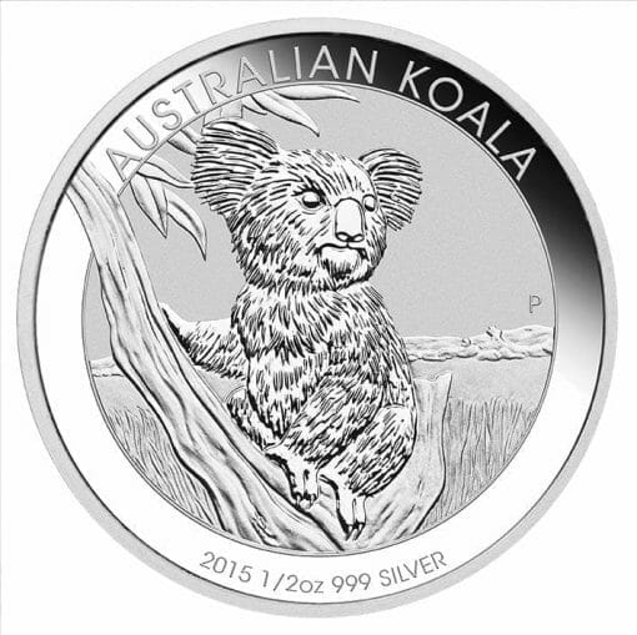 2015 Australian Koala 1/2oz .999 Silver Bullion Coin 2