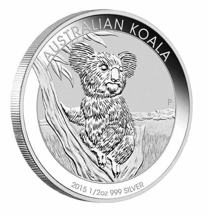 2015 Australian Koala 1/2oz .999 Silver Bullion Coin 1