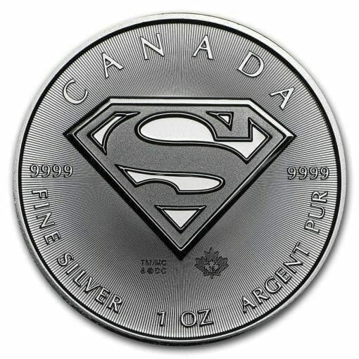 2016 Superman S Shield 1oz .9999 Silver Bullion Coin 1