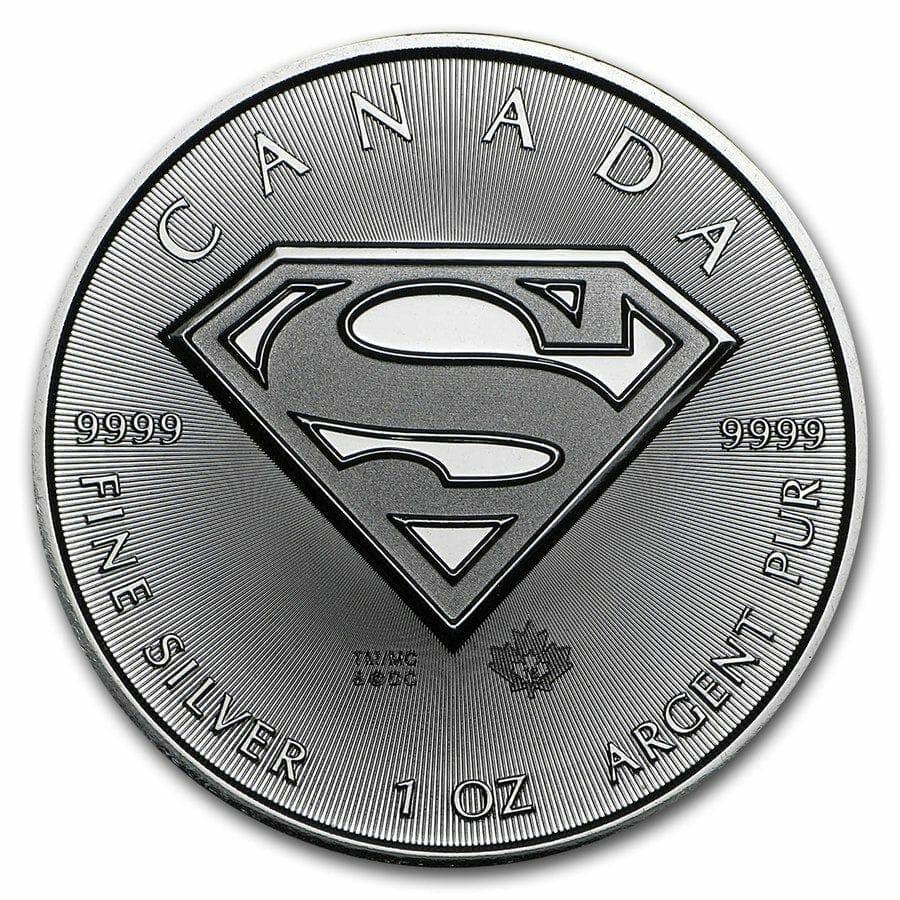 2016 Superman S Shield 1oz .9999 Silver Bullion Coin 1