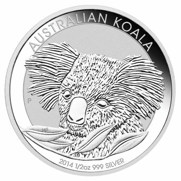 2014 Australian Koala 1/2oz .999 Silver Bullion Coin – The Perth Mint 1