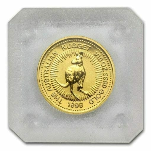 1999 The Australian Nugget Series 1/10oz .9999 Gold Bullion Coin 2