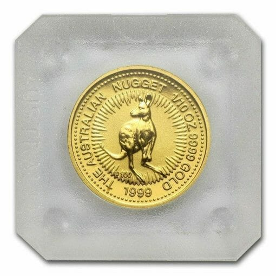 1999 The Australian Nugget Series 1/10oz .9999 Gold Bullion Coin 2
