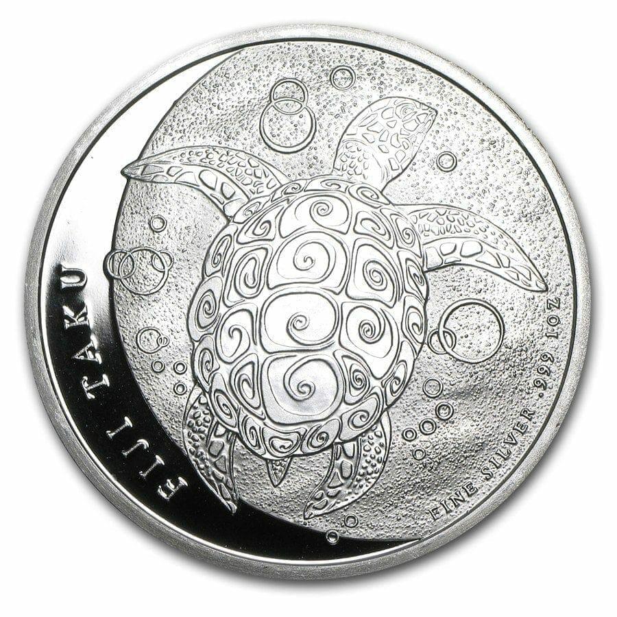 2011 Hawksbill Turtle Fiji Taku 1oz .999 Silver Bullion Coin - New Zealand Mint 1