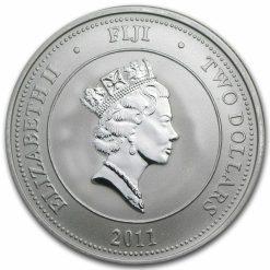 2011 Hawksbill Turtle Fiji Taku 1oz .999 Silver Bullion Coin - New Zealand Mint 3