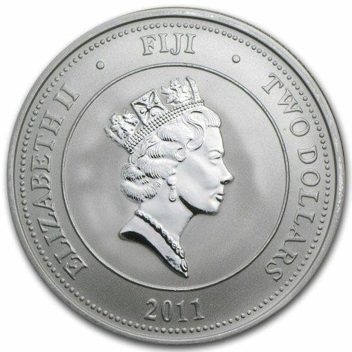 2011 Hawksbill Turtle Fiji Taku 1oz .999 Silver Bullion Coin - New Zealand Mint 2