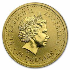 1999 The Australian Nugget Series 1/4oz .9999 Gold Bullion Coin - The Perth Mint 5