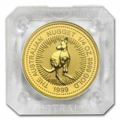 1999 The Australian Nugget Series 1/4oz .9999 Gold Bullion Coin - The Perth Mint 4