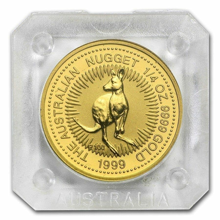 1999 The Australian Nugget Series 1/4oz .9999 Gold Bullion Coin - The Perth Mint 2