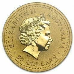 1999 The Australian Nugget Series 1/2oz .9999 Gold Bullion Coin - The Perth Mint 5