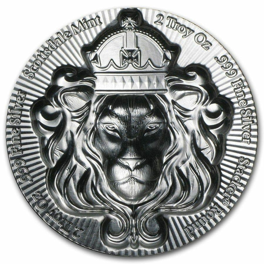 Scottsdale Silver 2oz .999 Silver Bullion Stacker Round Coin 5